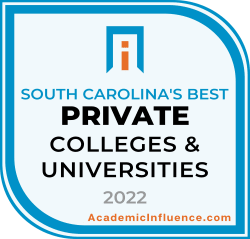 South Carolina's Best Private Colleges and Universities 2021 badge