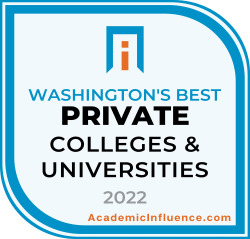 Washington's Best Private Colleges and Universities 2021 badge