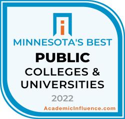 Minnesota's Best Public Colleges 2021 badge