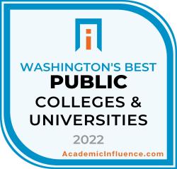 Washington's Best Public Colleges 2021 badge