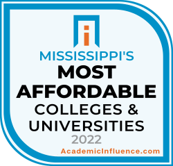 Mssissippi's Most Affordable Colleges and Universities 2021 badge