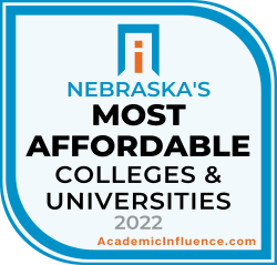 Nebraska's Most Affordable Colleges and Universities 2021 badge