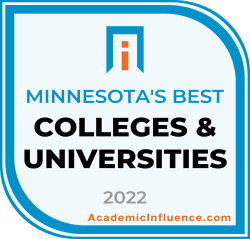 Minnesota's Best Colleges and Universities 2021 badge