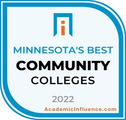 Minnesota's Best Community Colleges 2021 badge