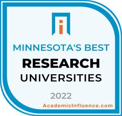 Minnesota's Best Research Universities 2021 badge