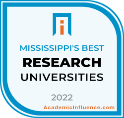 Mississippi's Best Research Universities 2021 badge