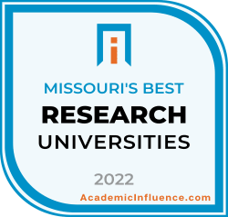 Missouri's Best Research Universities 2021 badge