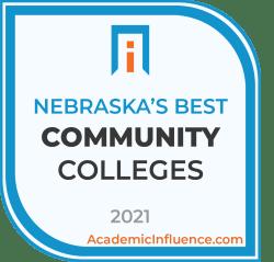Nebraska's Best Community Colleges 2021 badge