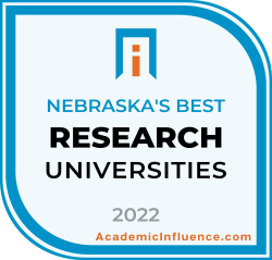 Nebraska's Best Research Universities 2021 badge