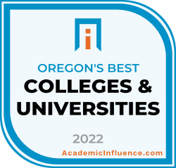Oregon's Best Colleges and Universities 2021 badge