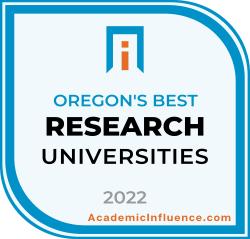 Oregon's Best Research Universities 2021 badge