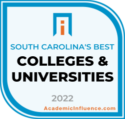 South Carolina's Best Colleges and Universities 2021 badge