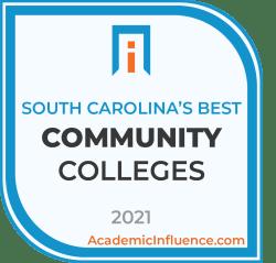 South Carolina's Best Community Colleges 2021 badge
