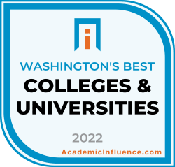 Washington's Best Colleges and Universities 2021 badge