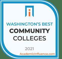 Washington's Best Community Colleges 2021 badge