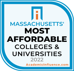 Massachusetts's Most Affordable Colleges and Universities 2021 badge
