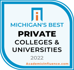 Michigan's Best Private Colleges and Universities 2021 badge