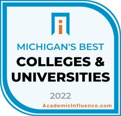 Michigan's Best Colleges and Universities 2021 badge