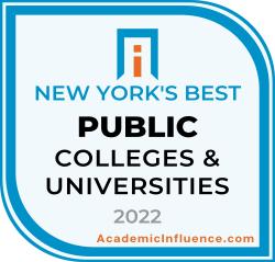 New York's Best Public Colleges 2021 badge
