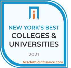 New York's Best Colleges and Universities 2021 badge