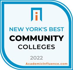 New York's Best Community Colleges 2021 badge