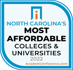 North Carolina's Most Affordable Colleges and Universities 2021 badge