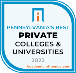 Pennsylvania's Best Private Colleges and Universities 2021 badge