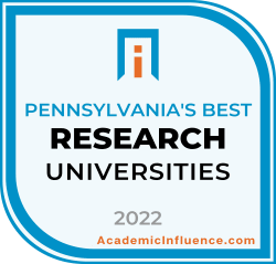 Pennsylvania's Best Colleges and Universities 2021 badge