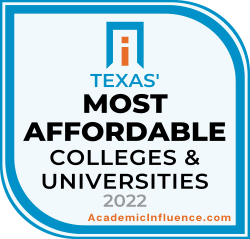 Texas's Most Affordable Colleges and Universities 2021 badge