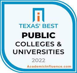 Texas's Best Public Colleges 2021 badge