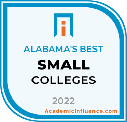 Alabama's Best Small Colleges and Universities 2021 badge