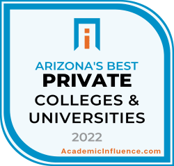 Arizona's Best Private Colleges and Universities 2021 badge