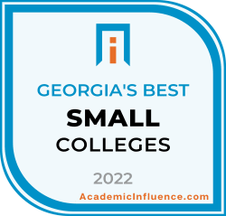 Georgia's Best Small Colleges and Universities 2021 badge