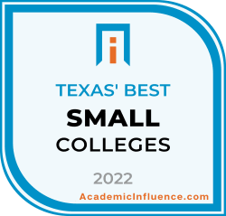 Texas's Best Small Colleges and Universities 2021 badge