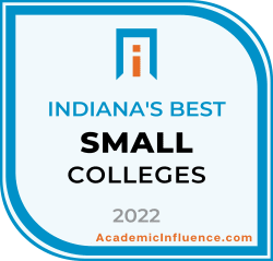 Indiana's Best Small Colleges and Universities 2021 badge