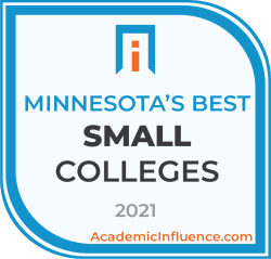 Minnesota's Best Small Colleges and Universities 2021 badge