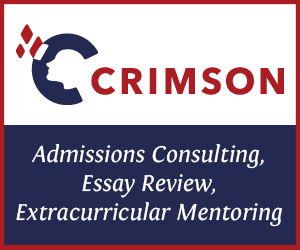 Crimson Education—admissions consulting, essay review, extracurricular mentoring