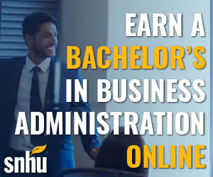 Get an online degree in Businesses Administration from SNHU…