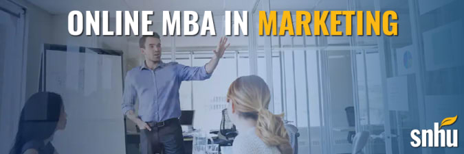 Advertisement for Southern New Hampshire University's mba in marketing program