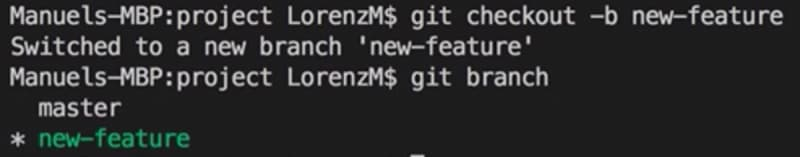 creating a feature branch in git