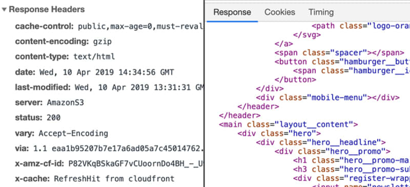 A response also includes metadata as well as the data sent back by the server - often, that's HTML