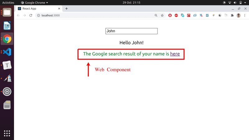 The final example we're going to build - a custom search component