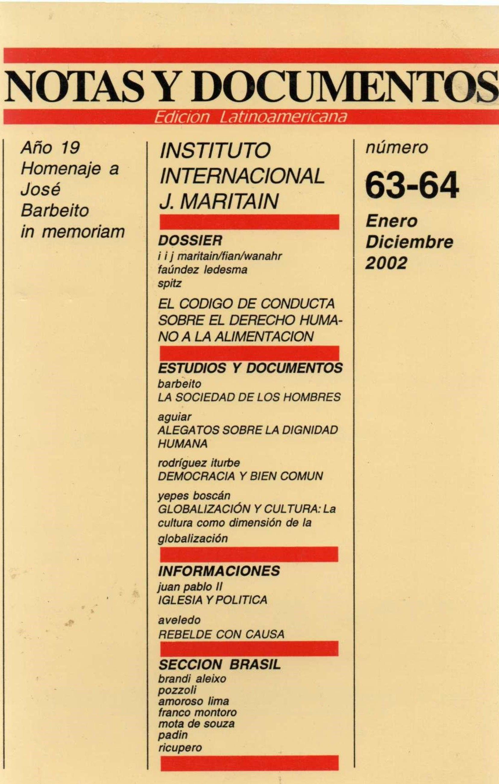 Notas y Documentos - Venezuela -  N 63-64 - Enero-Dicembre