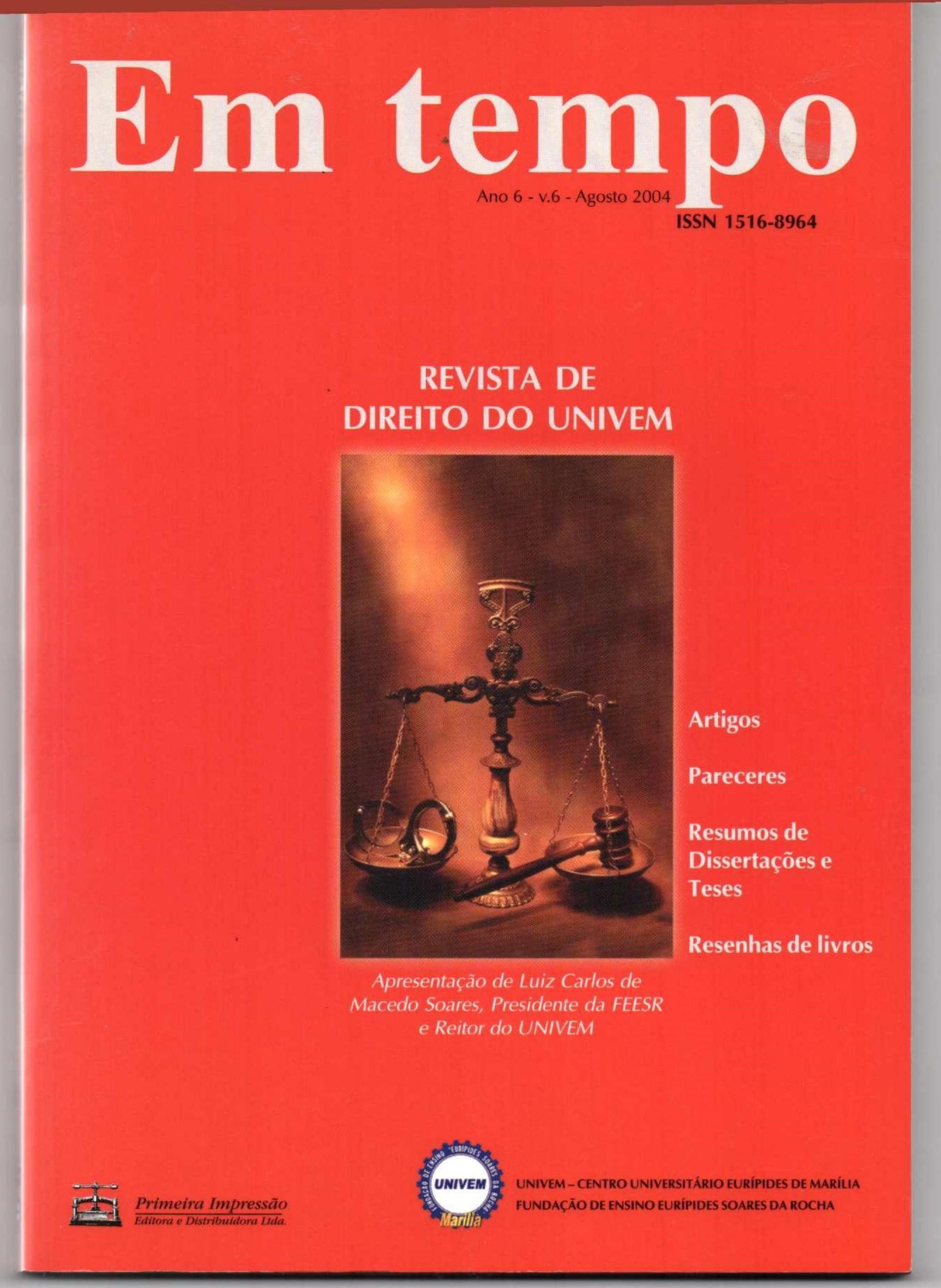 1994 – AJURIS 61 – Revista de Jurisprudência - Artigo