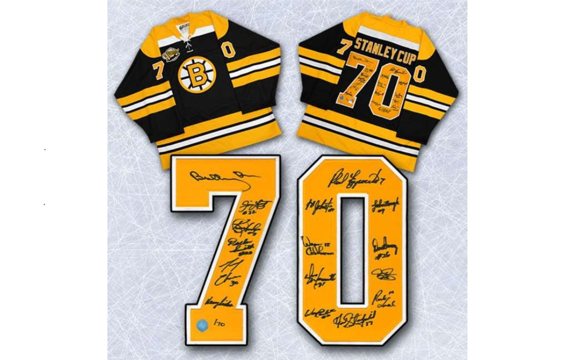 newest 5e88a c3276 Auction Page | Boston Bruins 1970 Team signed jersey