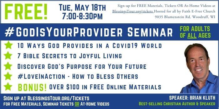 FREE #GodIsYourProvider Seminar - Northwoods