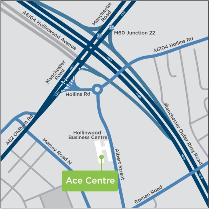 Oldham office on a map