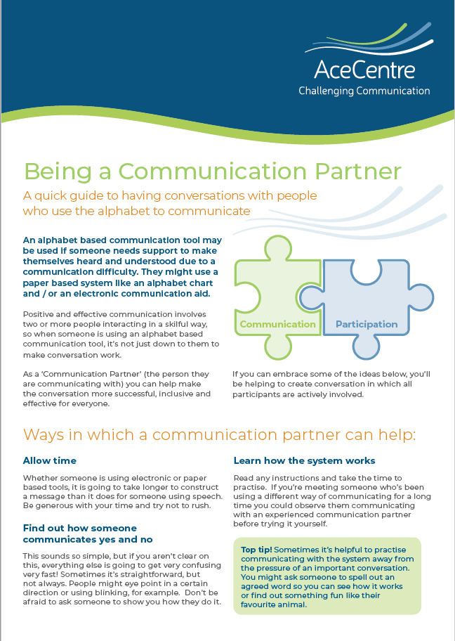 An thumbnail for the post: Being a Communication Partner