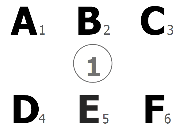 An thumbnail for the post: Number encoded - UPPER case - for eye pointing