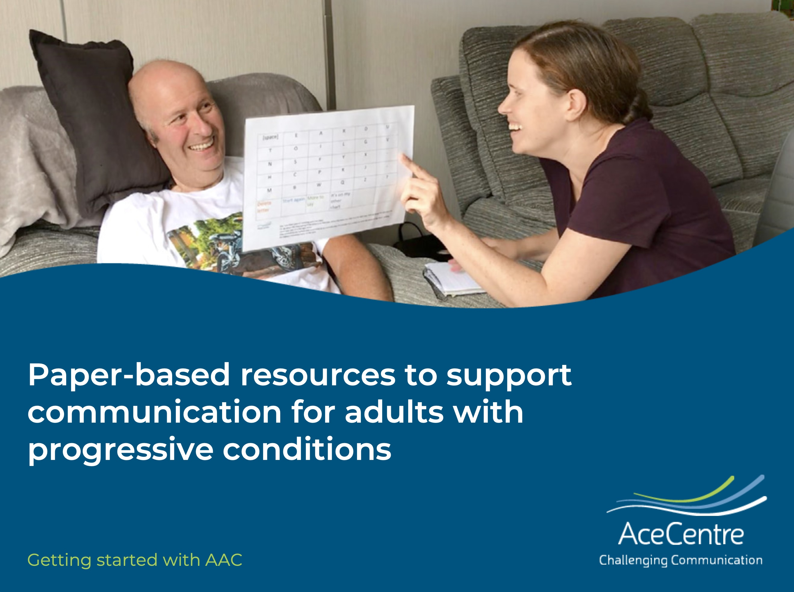 An thumbnail for the post: Paper-based resources to support Communication for Adults with Progressive Conditions
